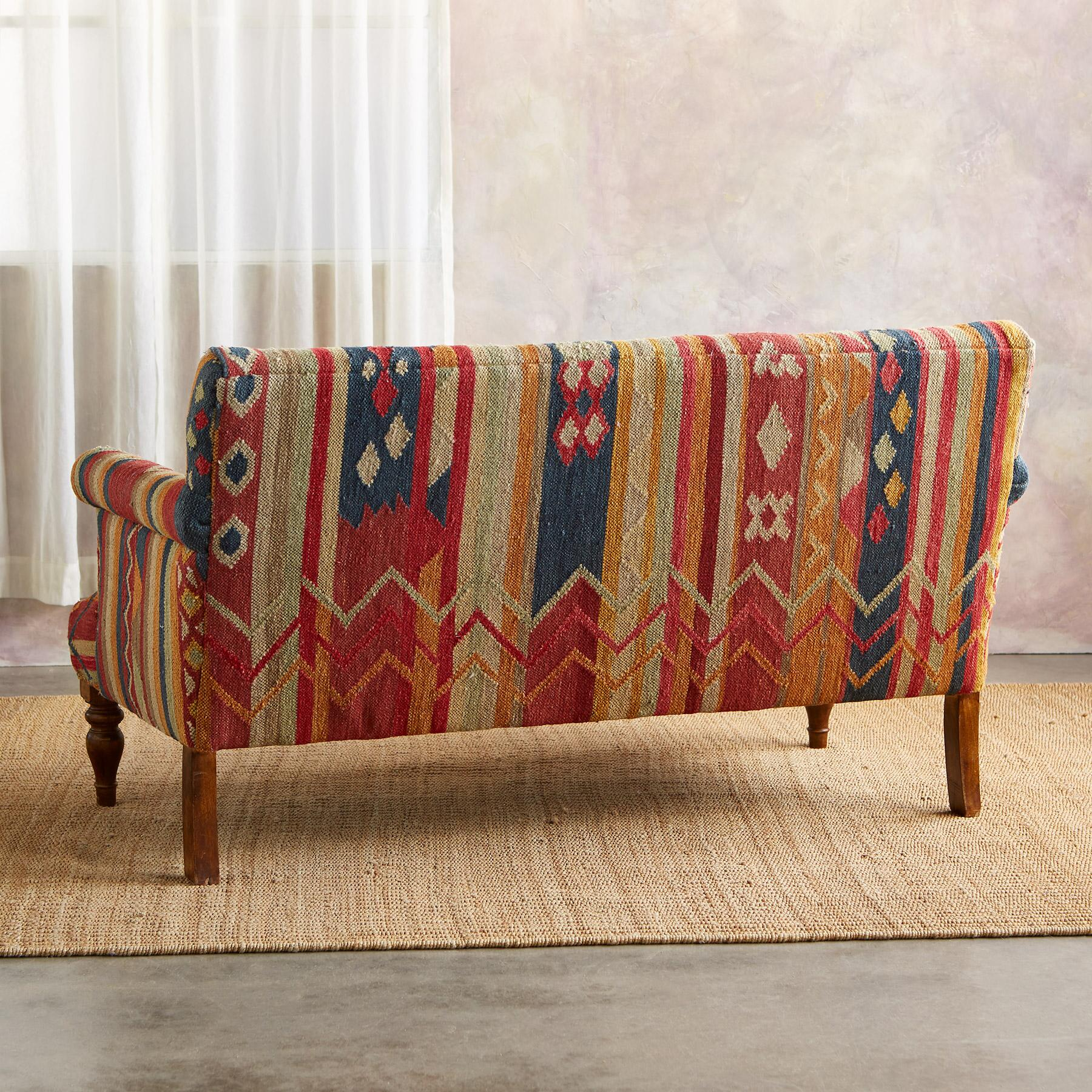 CABIN CREEK KILIM LOVESEAT: View 3