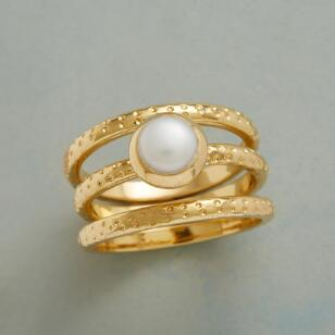 DOTTY AND PEARL RINGS