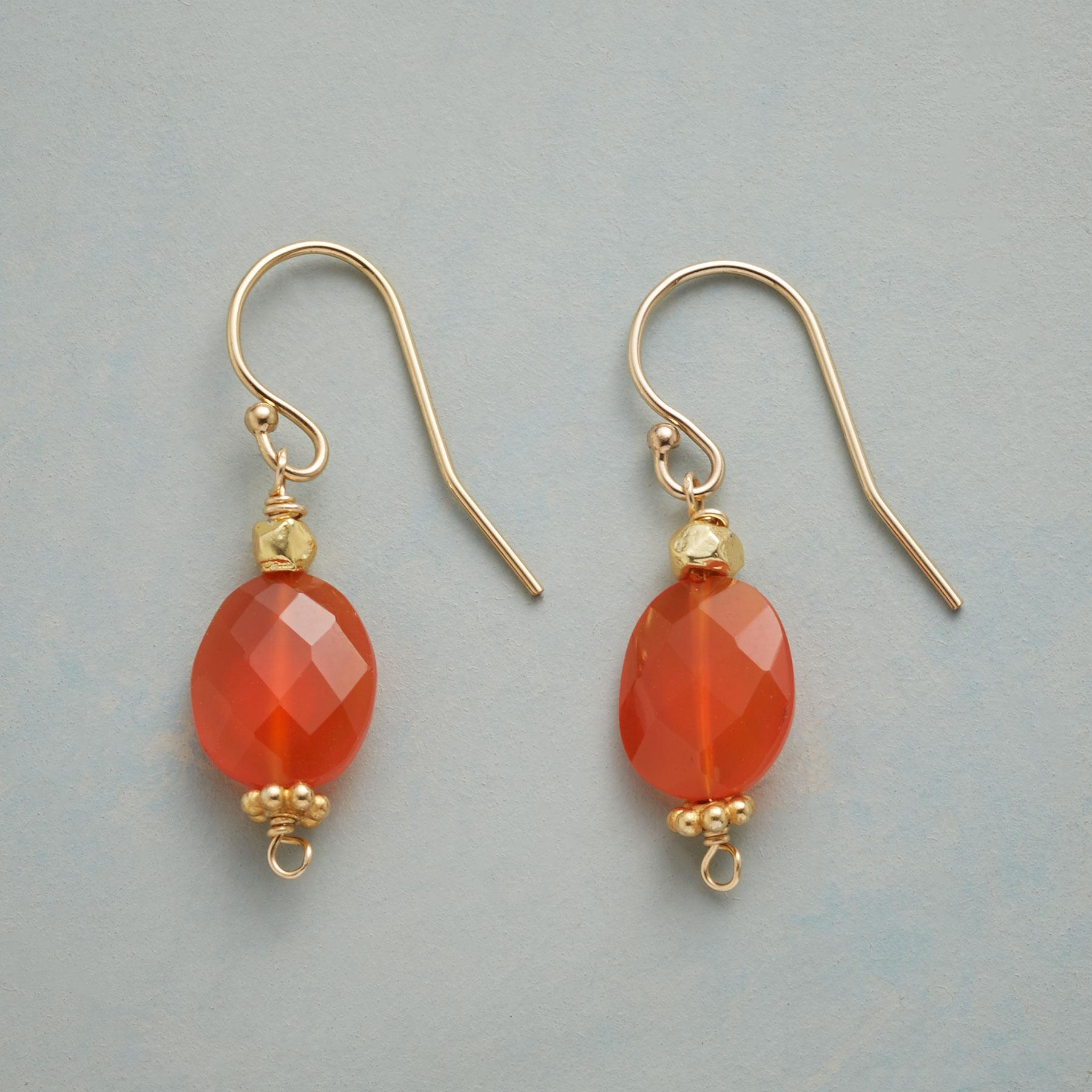 CARNELIAN SPARK EARRINGS: View 1