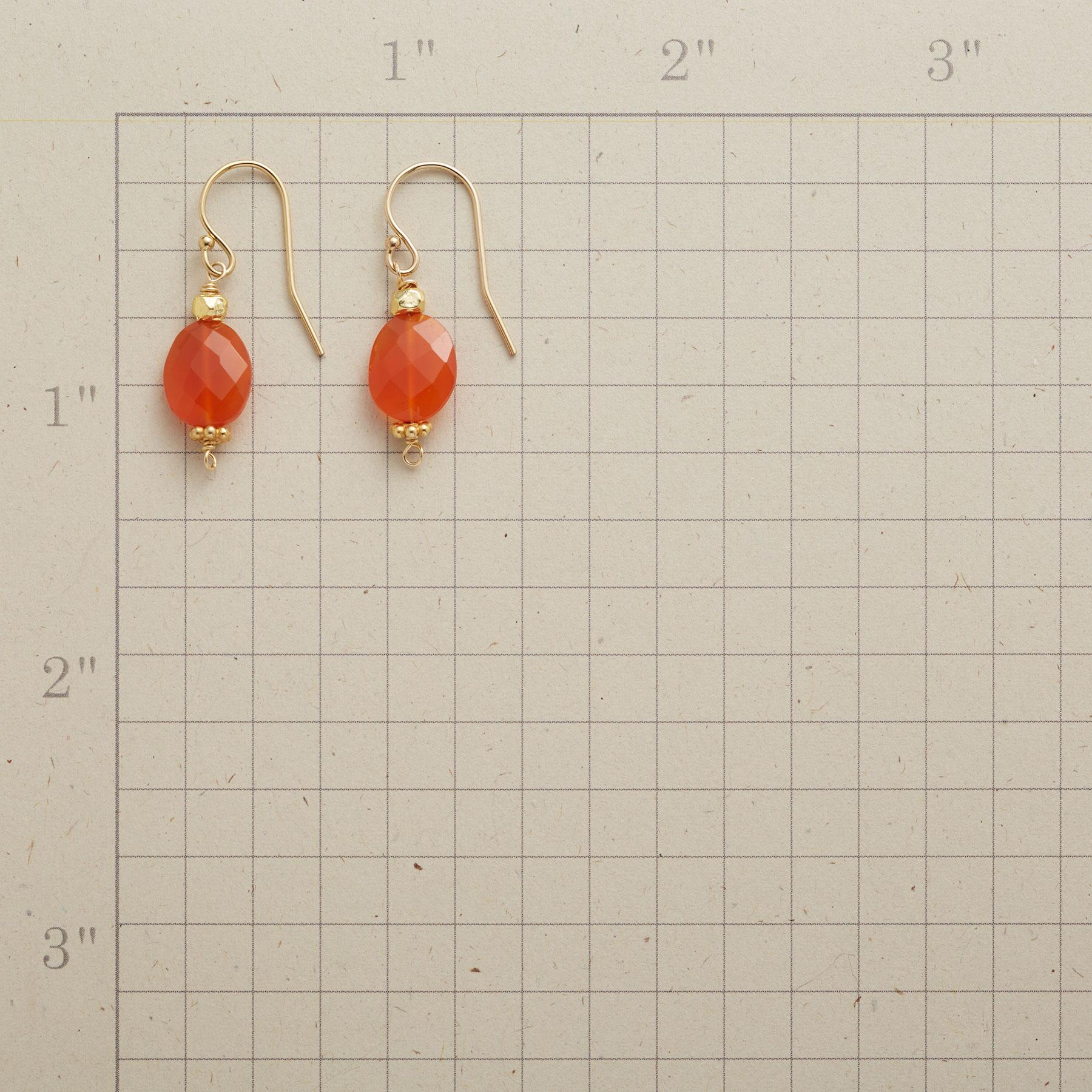 CARNELIAN SPARK EARRINGS: View 2