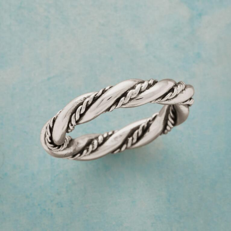 ENTWINED STERLING RING