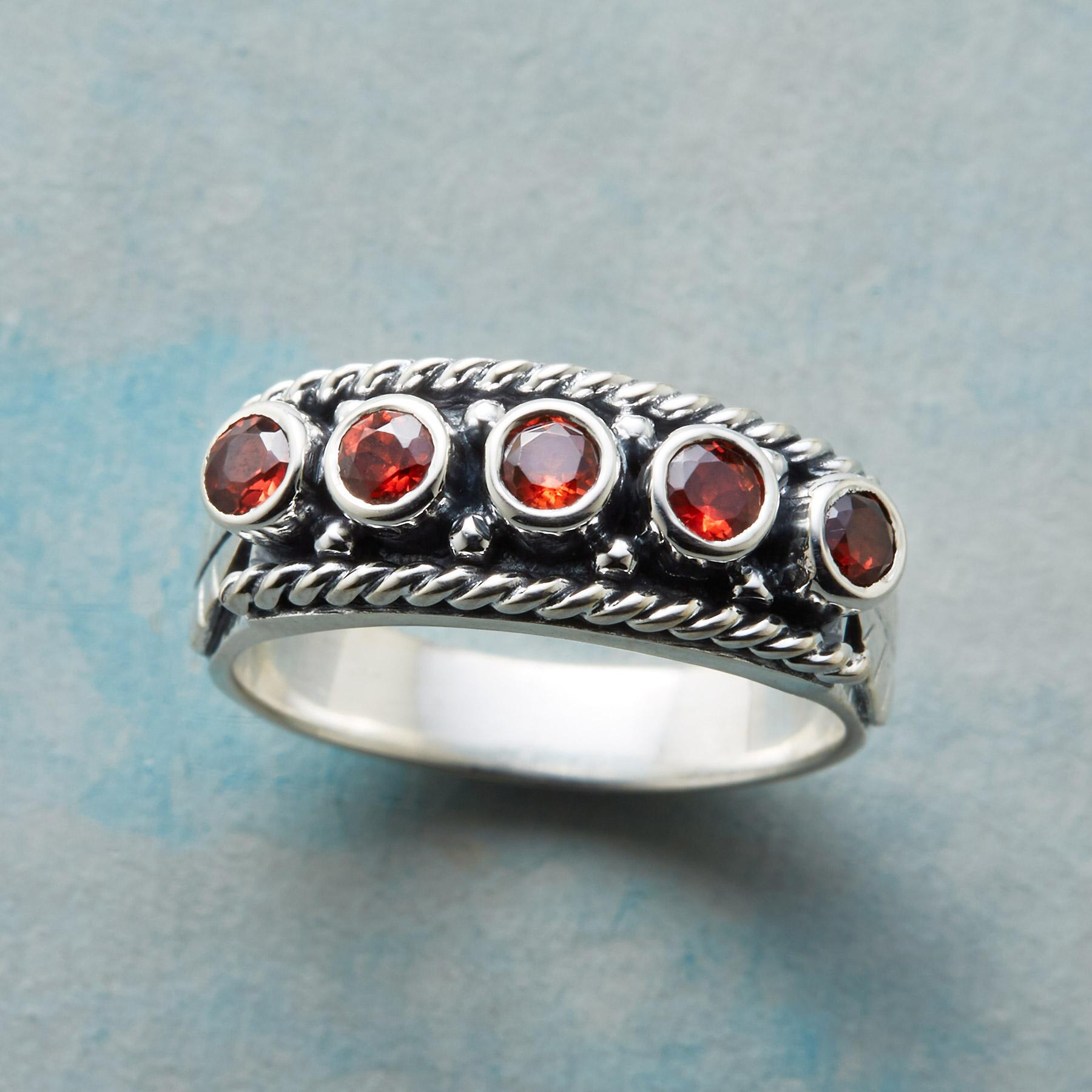 CRIMSON ROW RING: View 1
