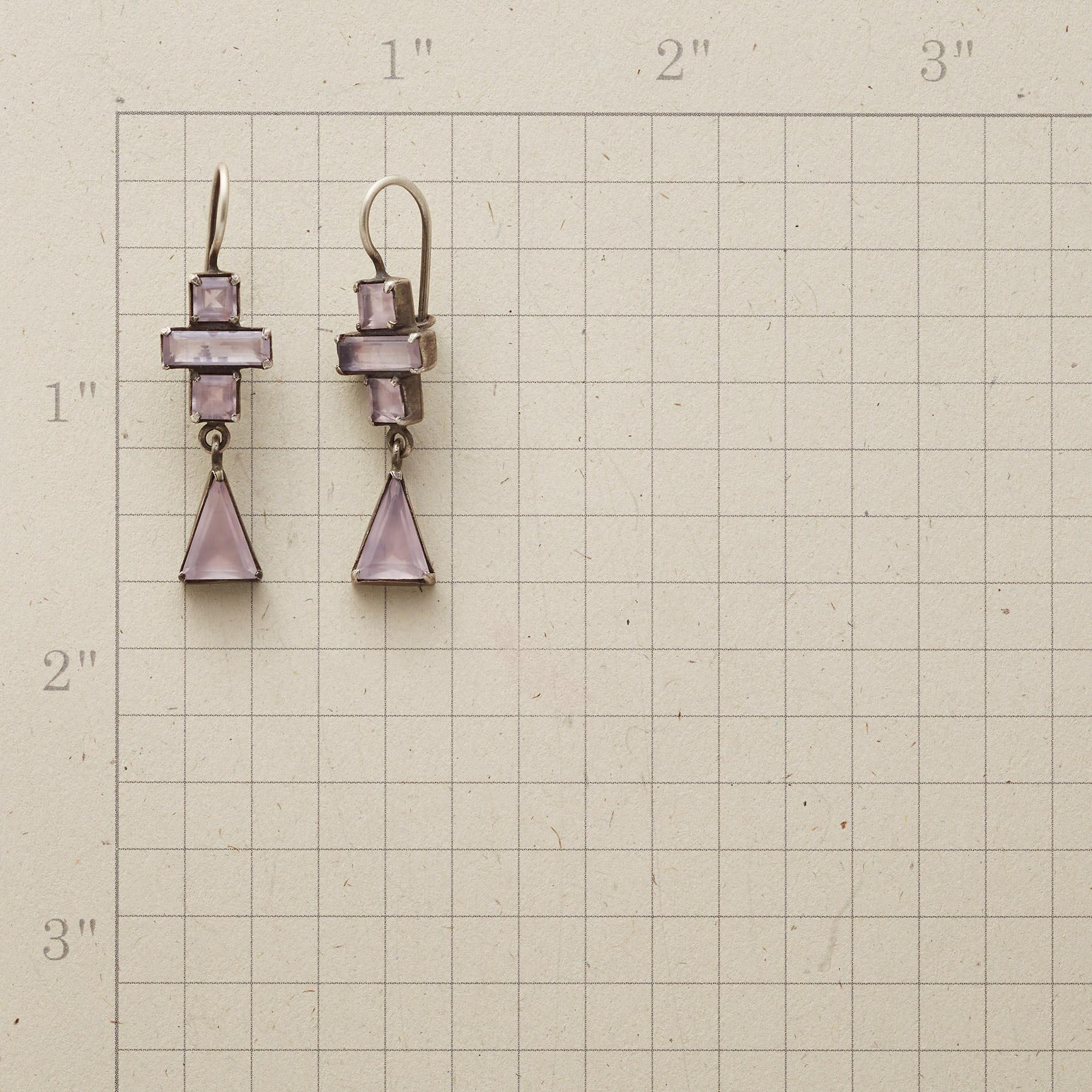 BLUSHED DECO EARRINGS: View 2