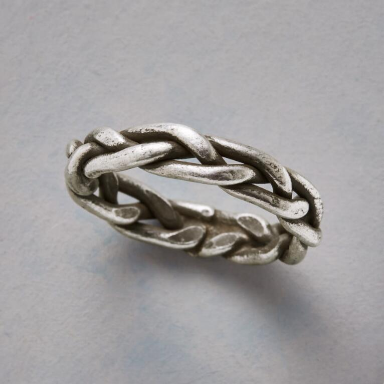 BRAIDED STERLING RING
