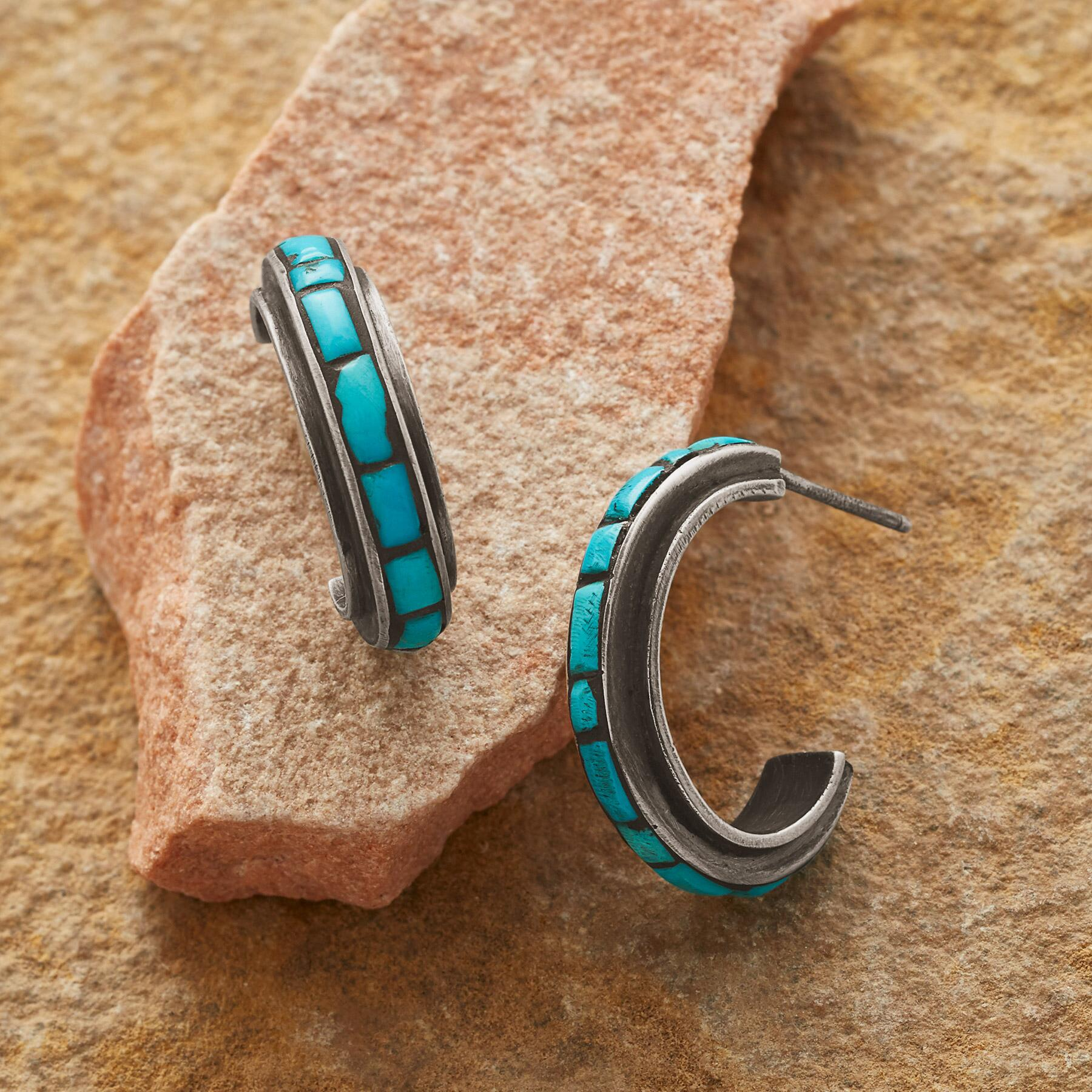 LONG ON TURQUOISE EARRINGS: View 1