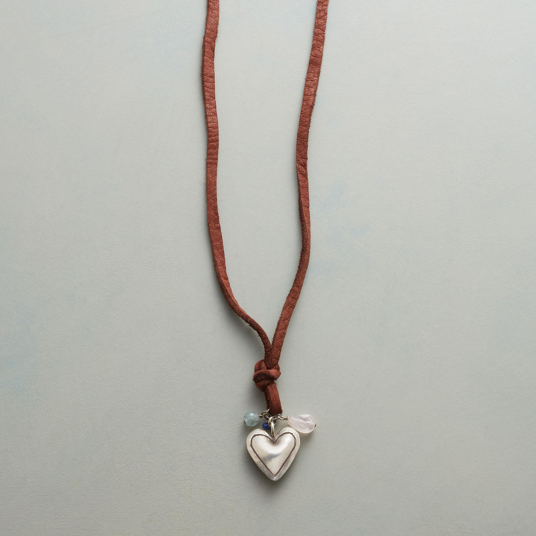 PUFFED HEART NECKLACE: View 1