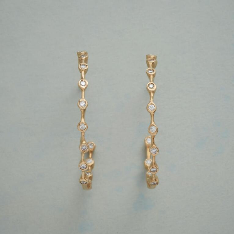 DIAMOND BUBBLES HOOPS
