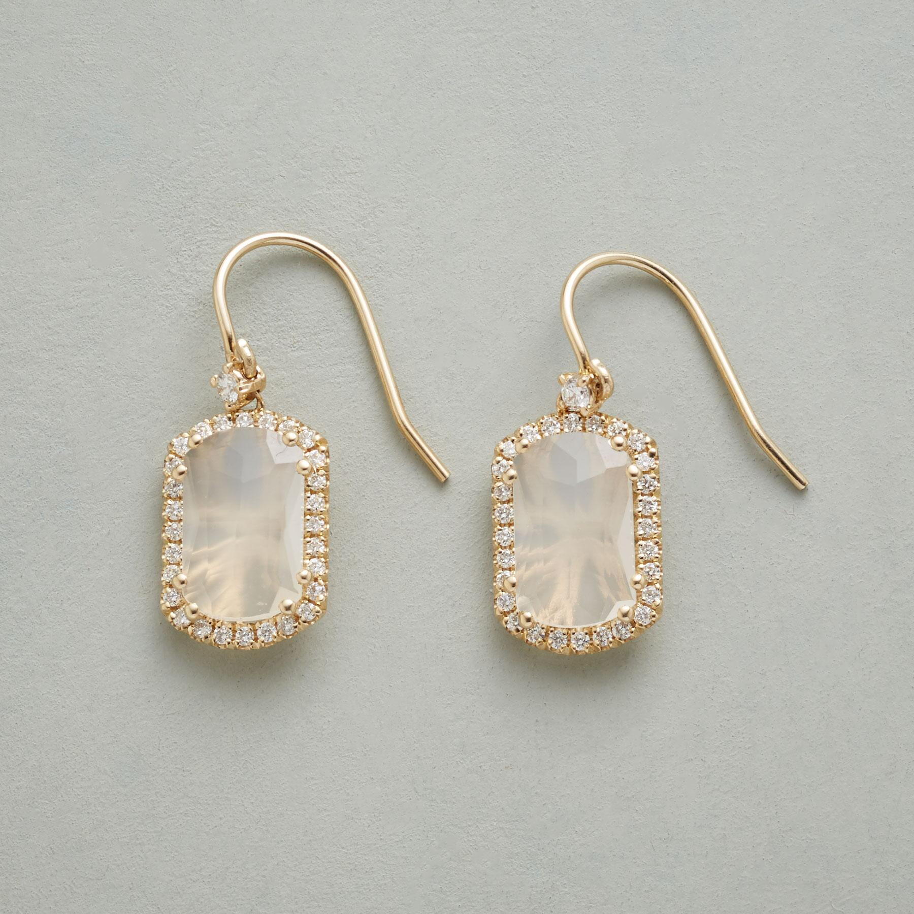 DIAMOND MOONBEAMS EARRINGS: View 1