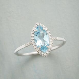 MARQUISE BLUE TOPAZ RING