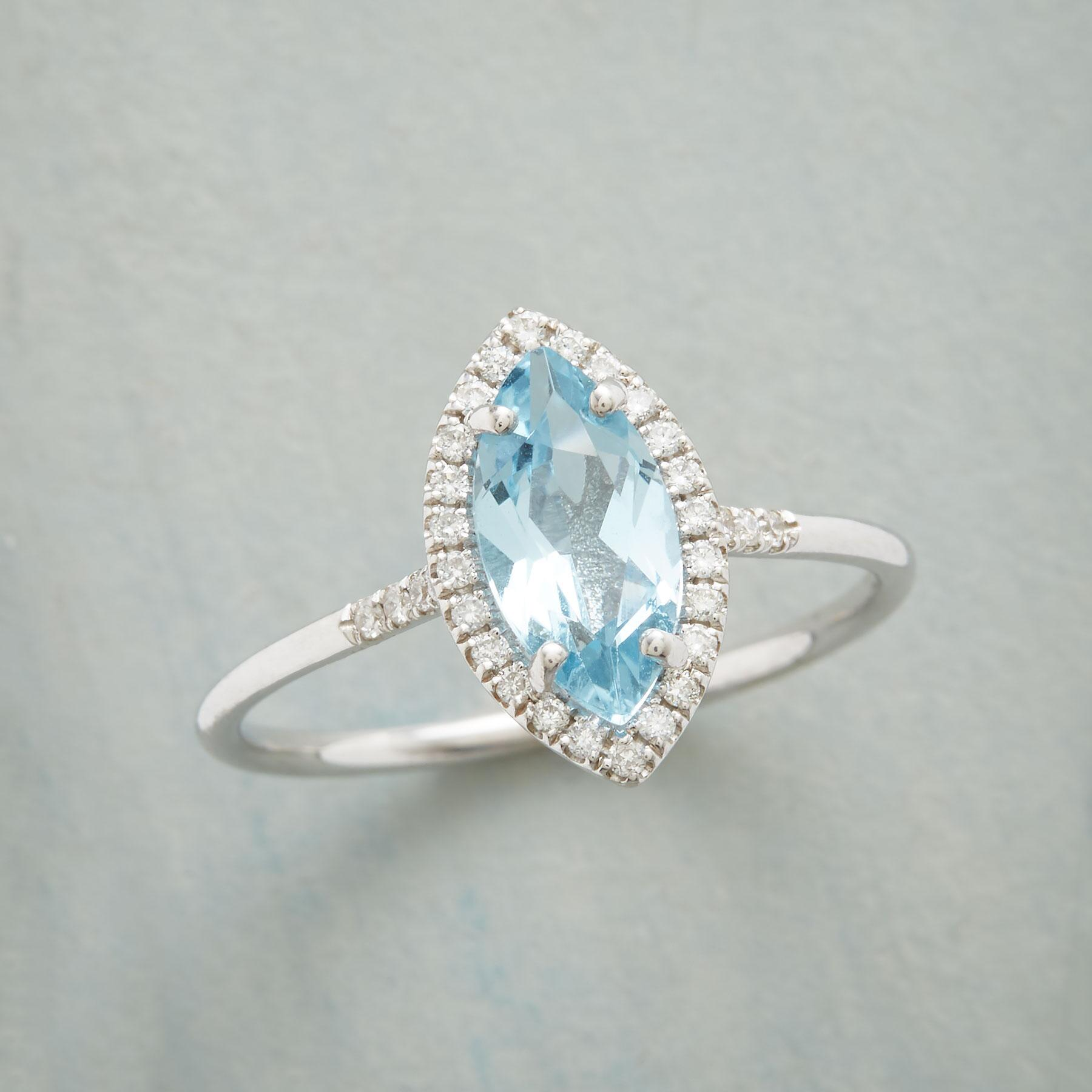 MARQUISE BLUE TOPAZ RING: View 1