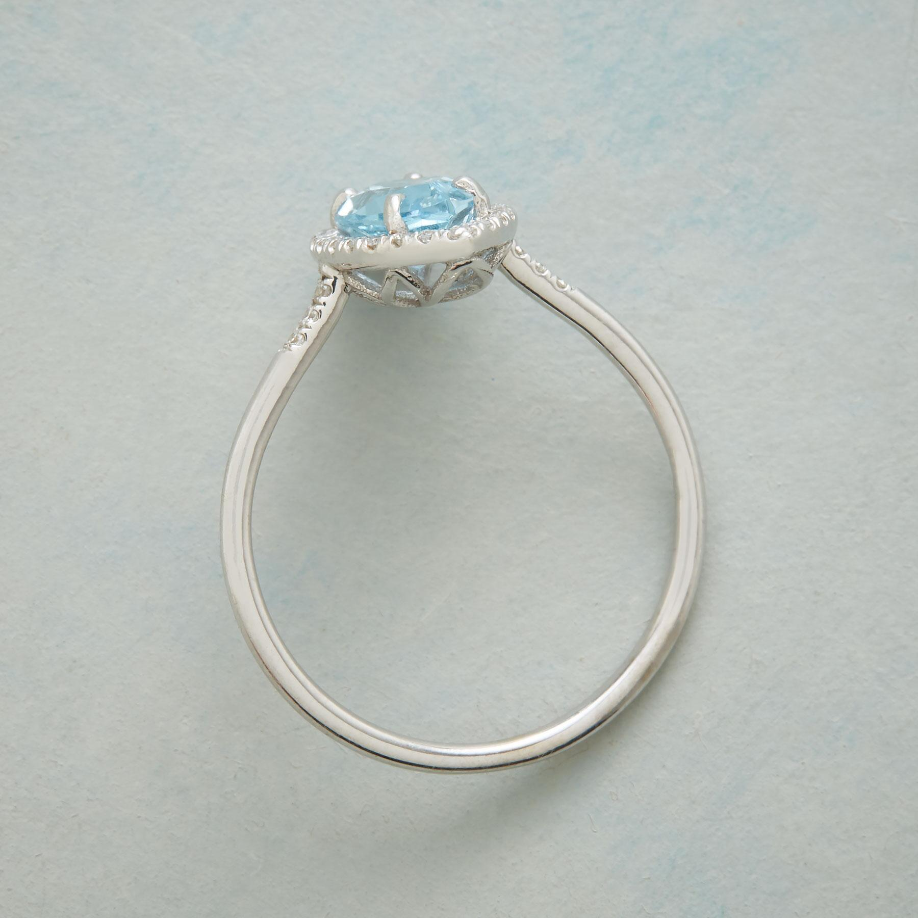 MARQUISE BLUE TOPAZ RING: View 2