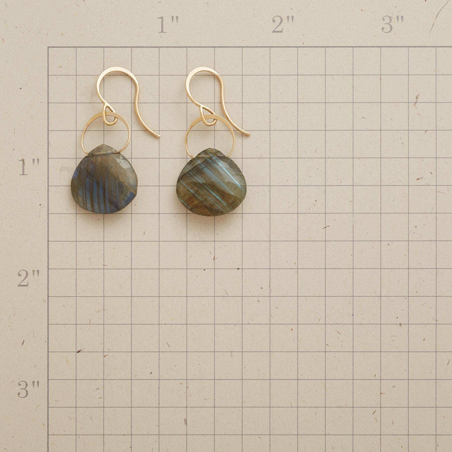 LYRICAL LABRADORITE EARRINGS: View 2