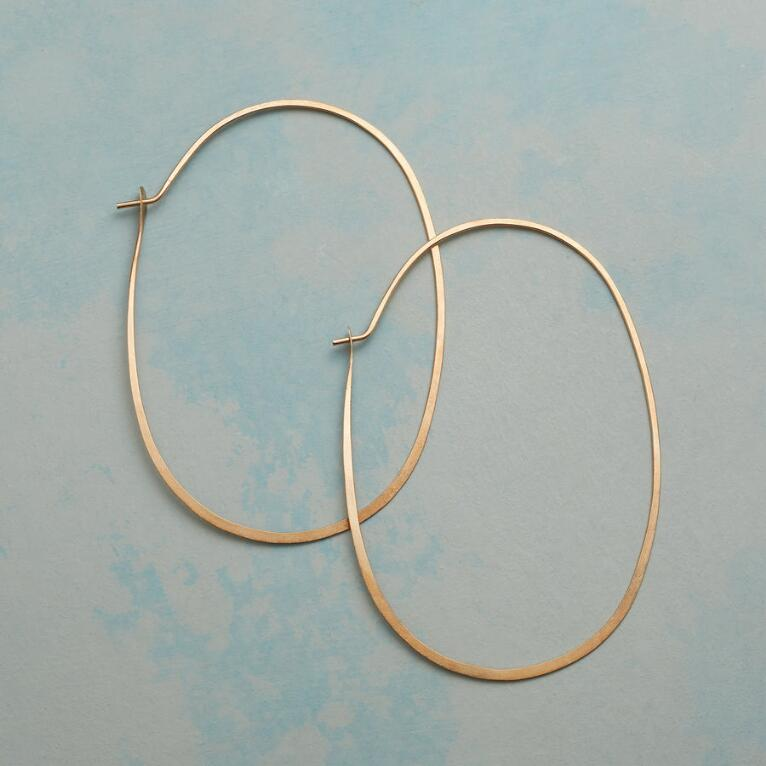 GOLD PROTRACTIONS HOOPS