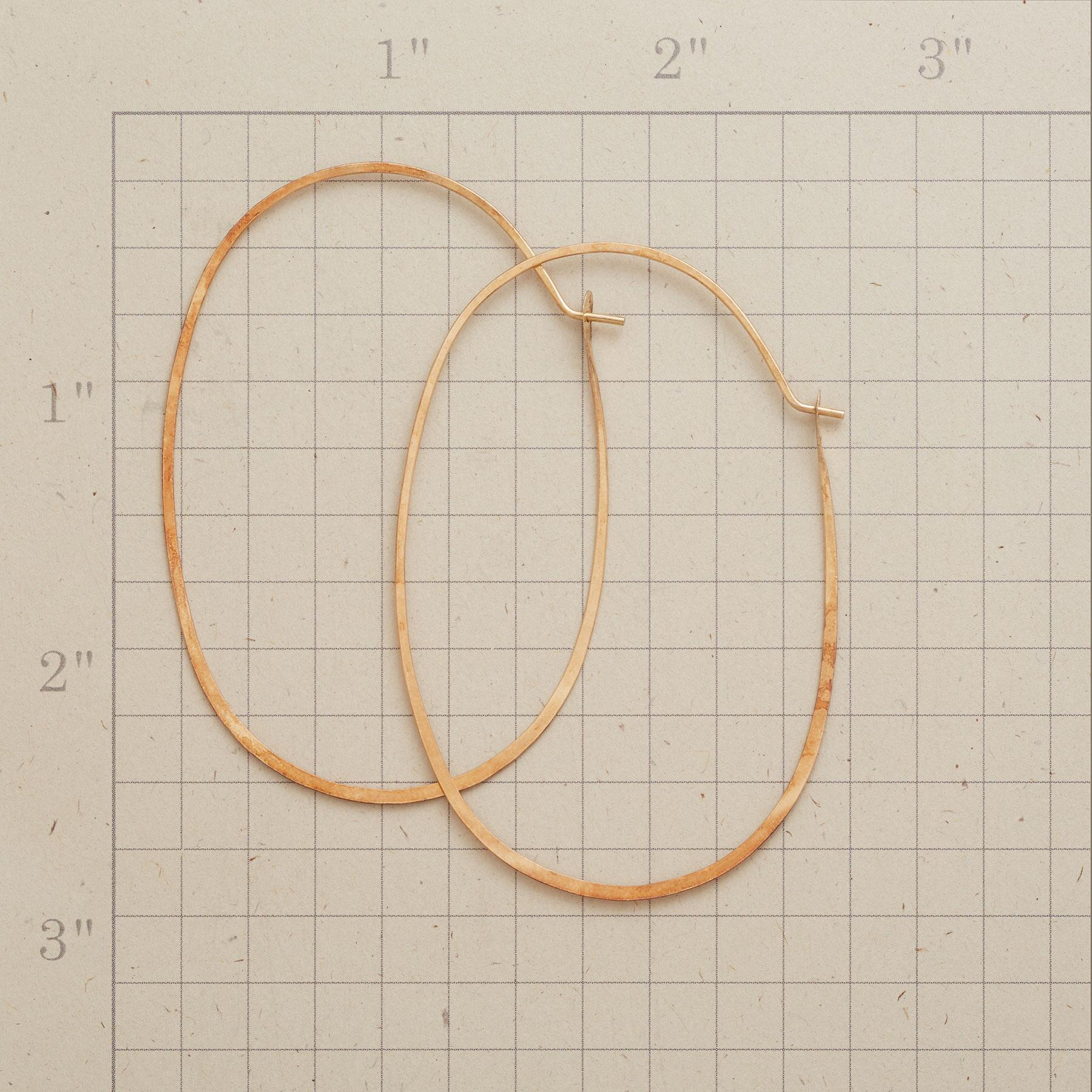 GOLD PROTRACTIONS HOOPS: View 2