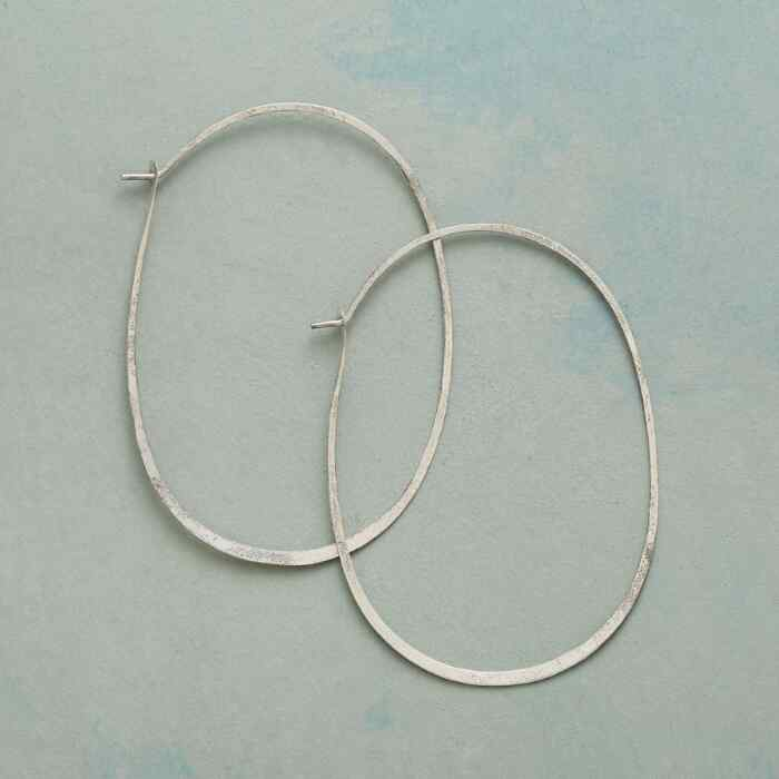 STERLING SILVER PROTRACTIONS HOOPS