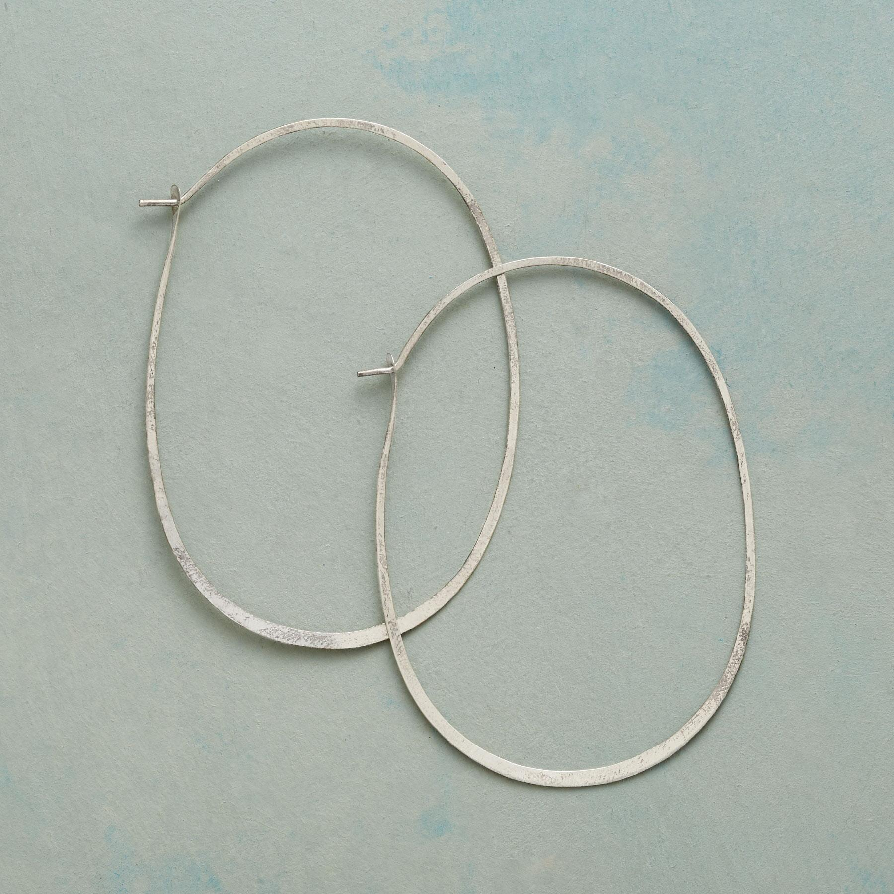 STERLING SILVER PROTRACTIONS HOOPS: View 1