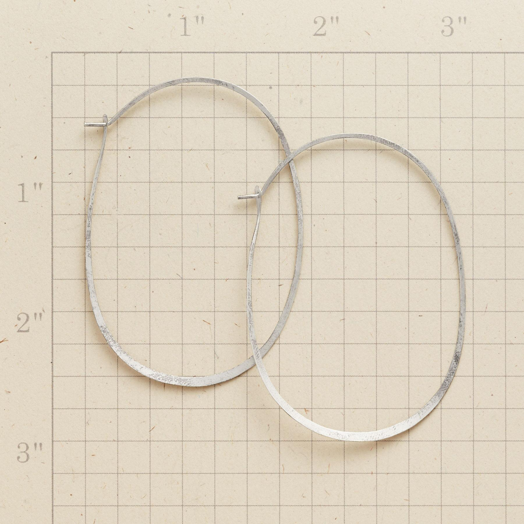 STERLING SILVER PROTRACTIONS HOOPS: View 2