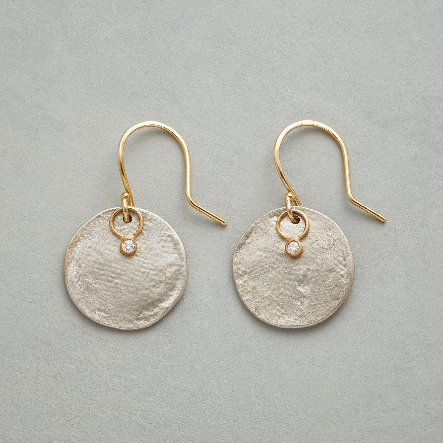 PARCHMENT PRINT EARRINGS: View 1