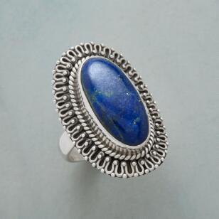 LACED LAPIS RING