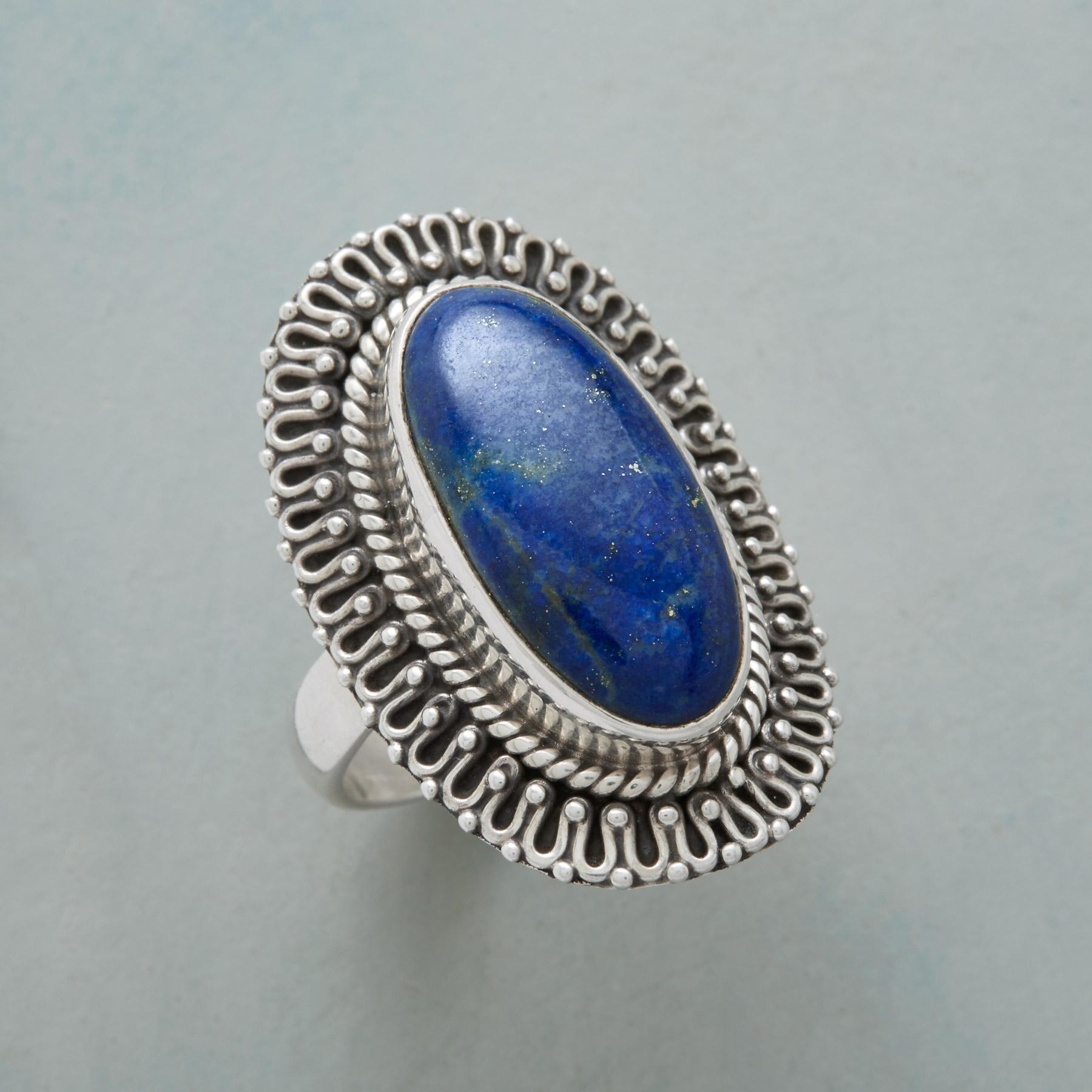 LACED LAPIS RING: View 1