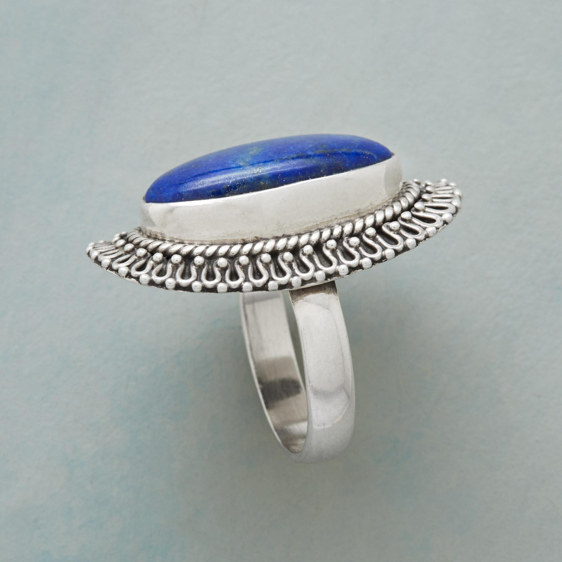 LACED LAPIS RING: View 2
