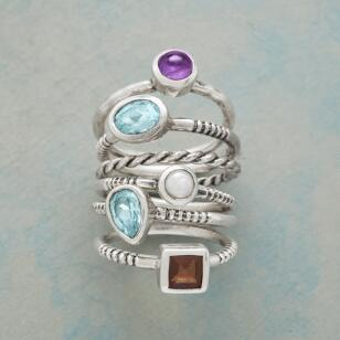 BEVY OF BEAUTY RINGS S/6