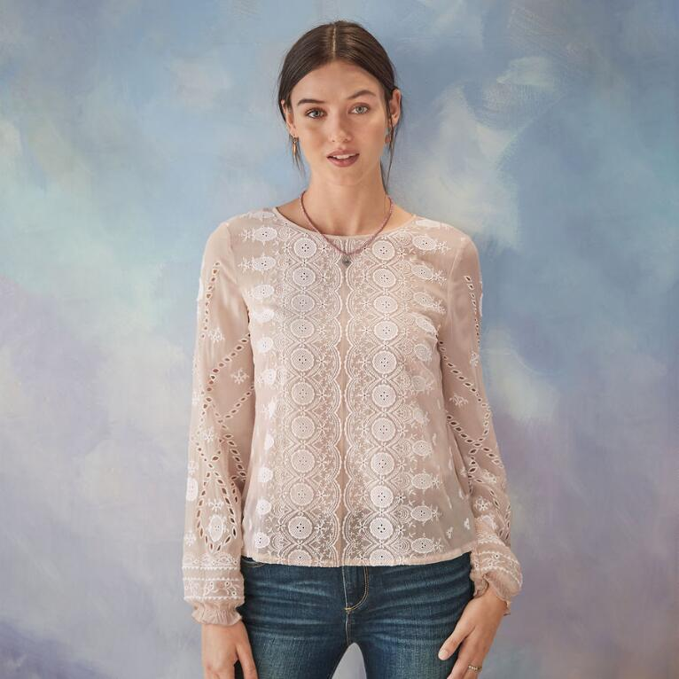 ANGELIQUE EYELET BLOUSE