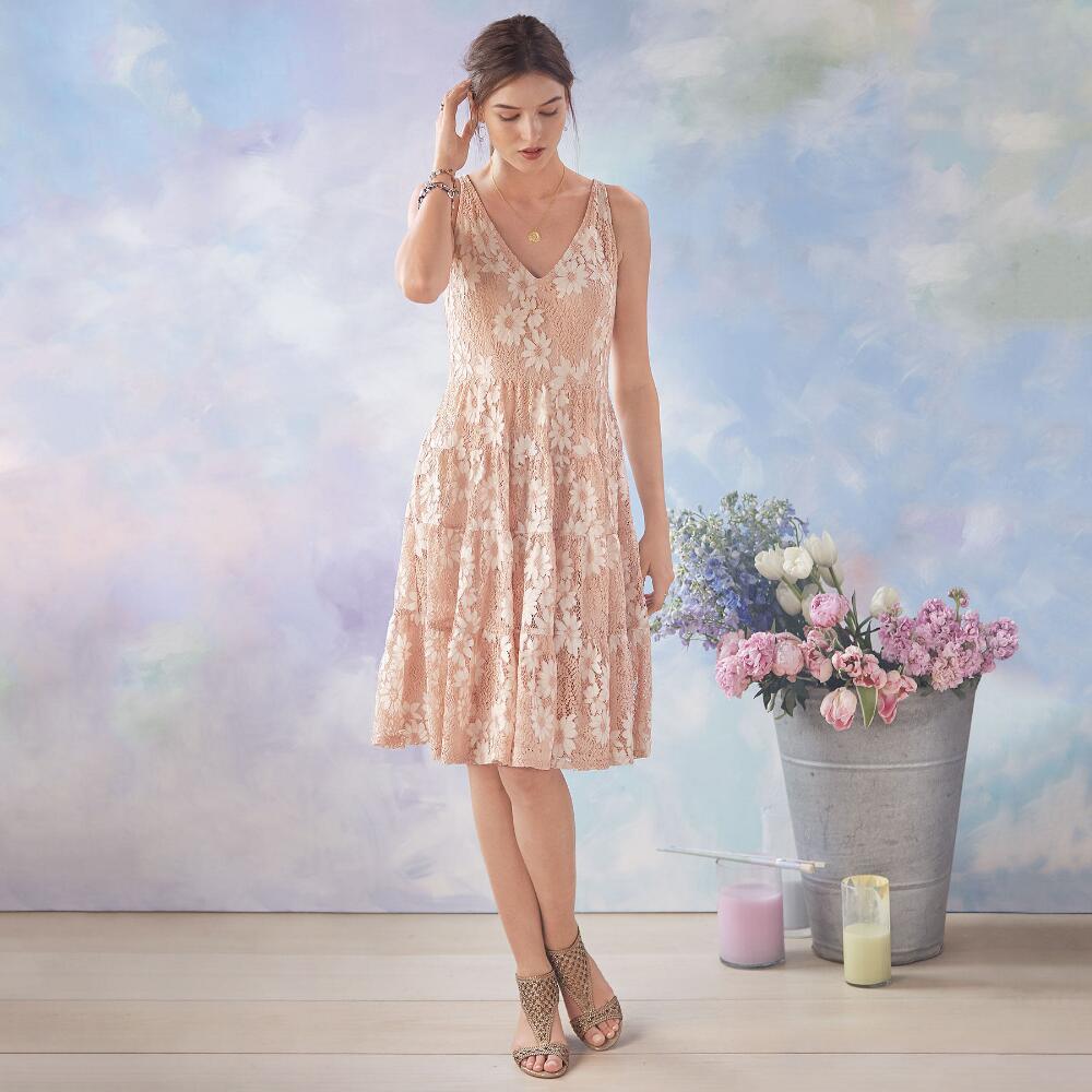 blushed tournesol dress