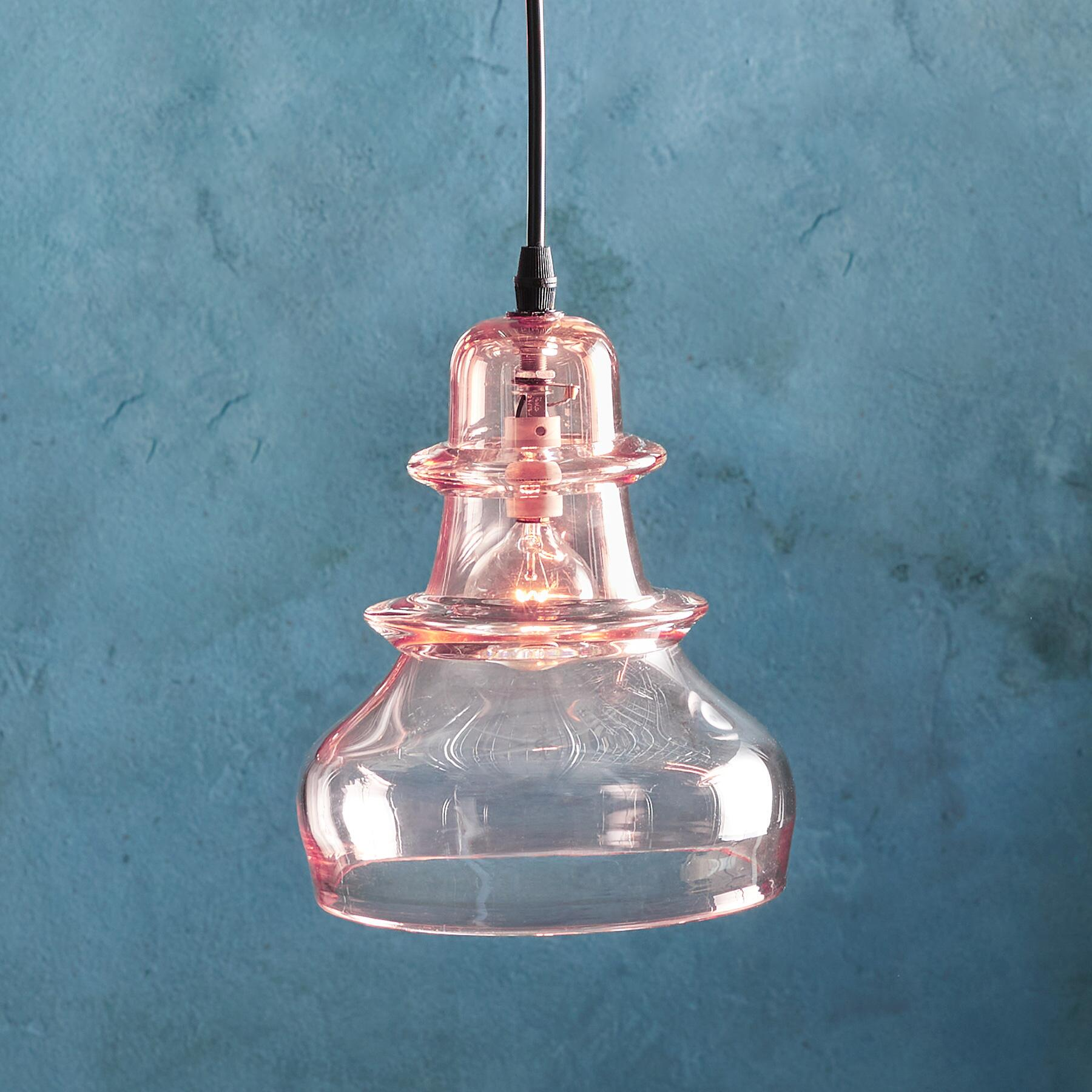 SALON GLASS MORSE PENDANT LIGHT: View 1