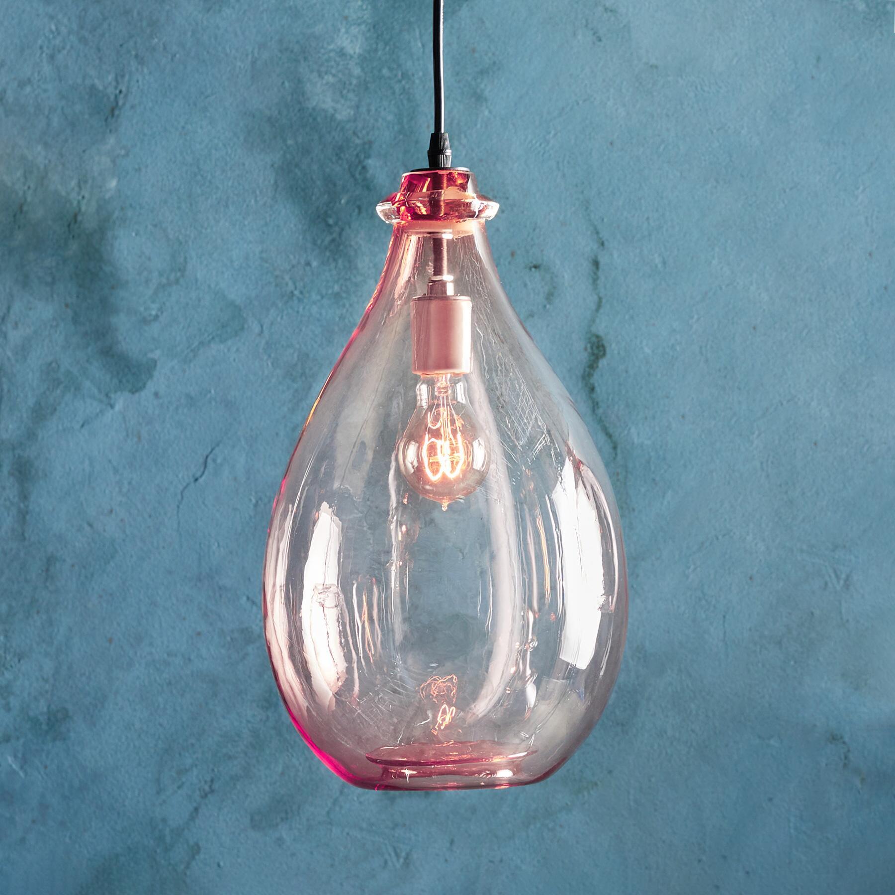 SALON GLASS OVAL PENDANT LIGHT: View 1