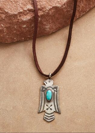 TURQUOISE THUNDERBIRD NECKLACE