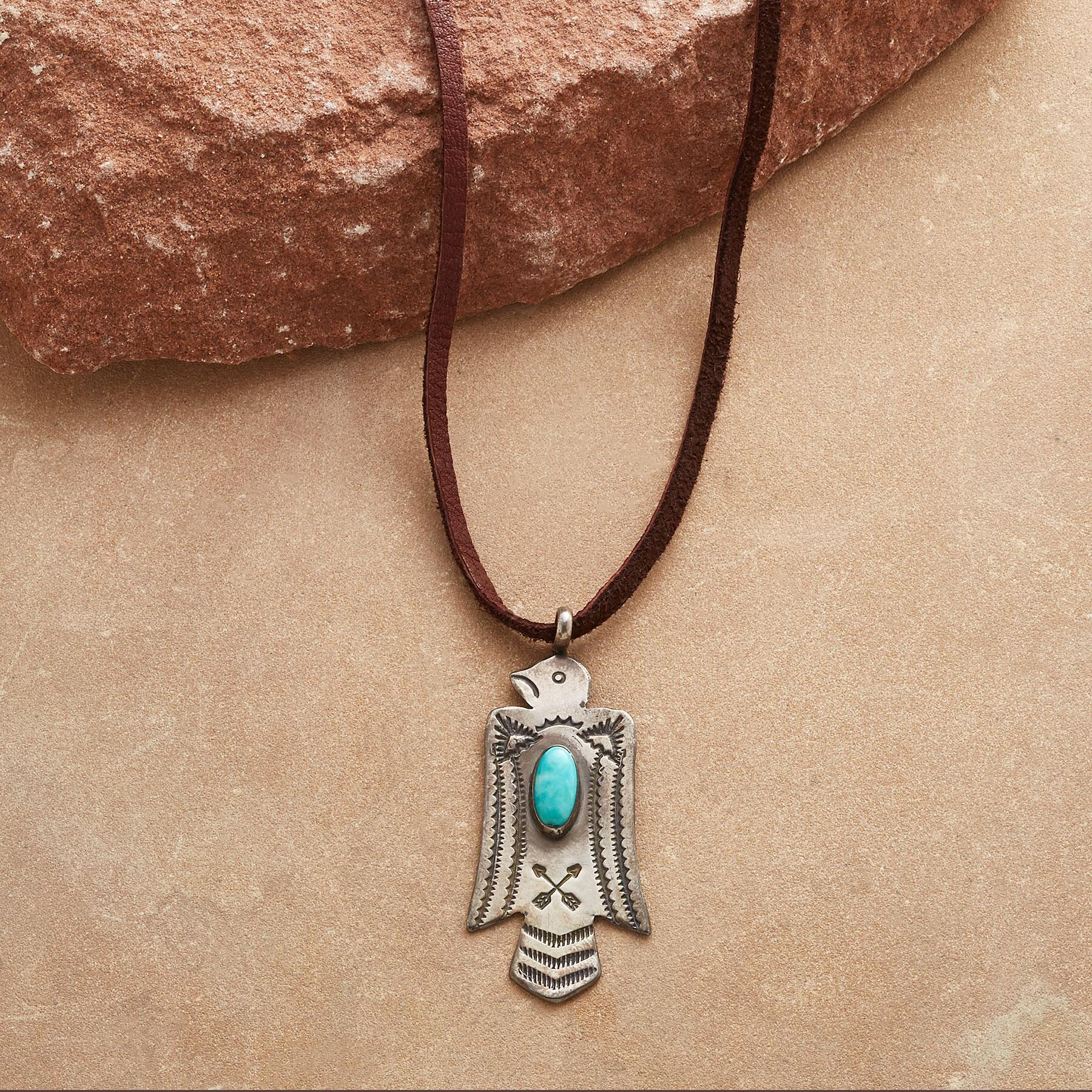 TURQUOISE THUNDERBIRD NECKLACE: View 1
