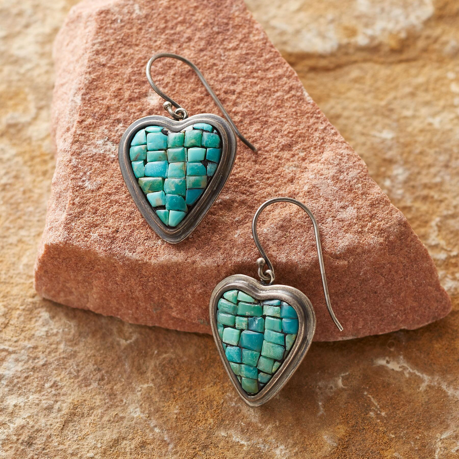 MOSAIC HEART EARRINGS: View 1