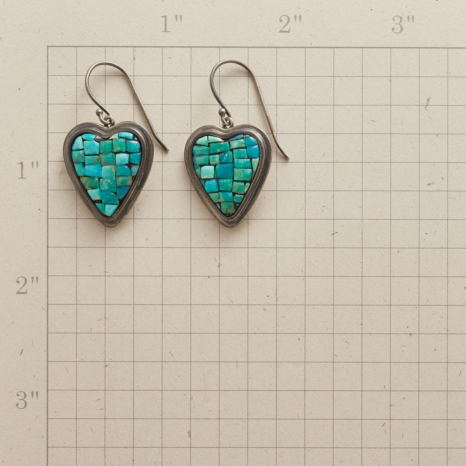 MOSAIC HEART EARRINGS: View 2