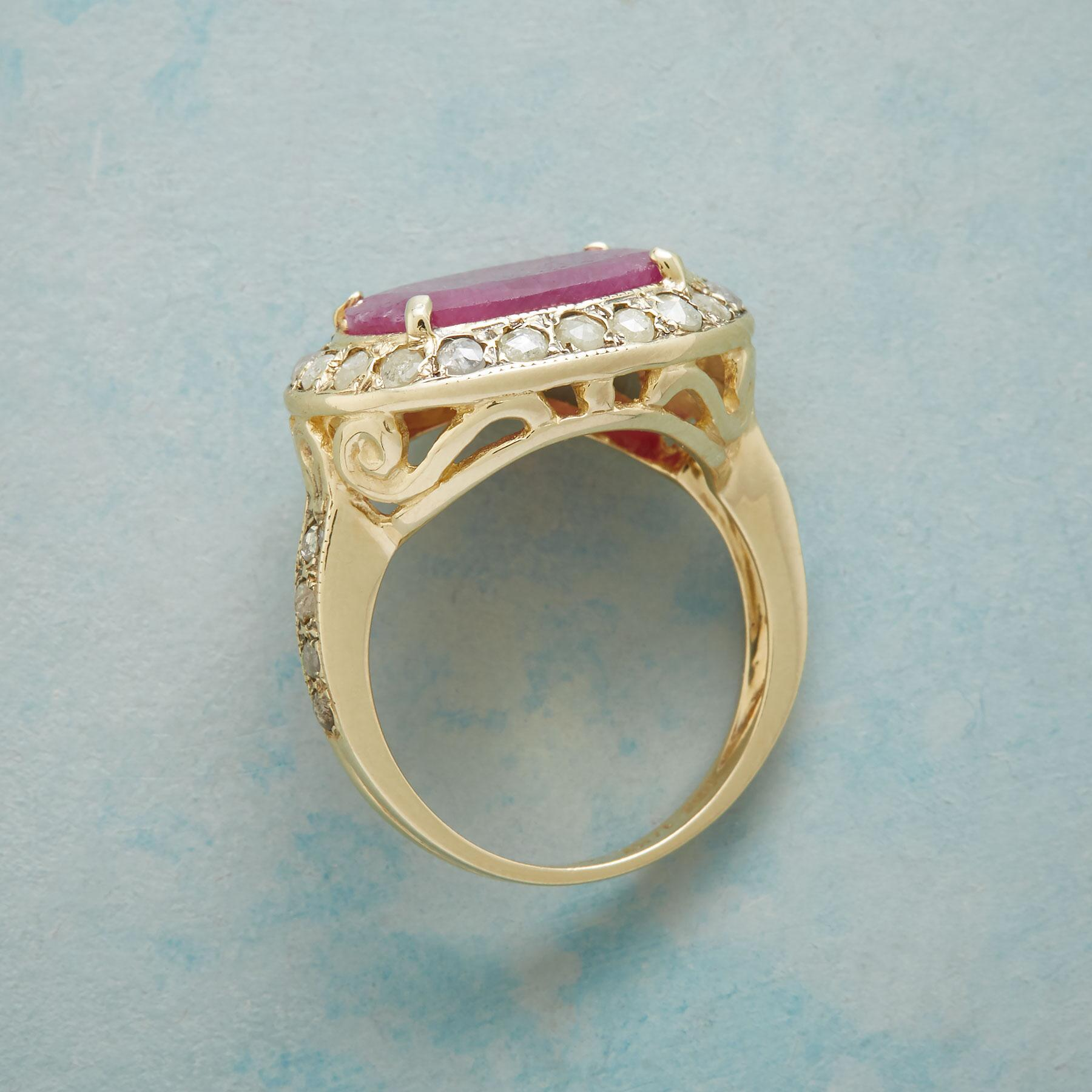 DIAMOND DUSTED RUBY RING: View 2