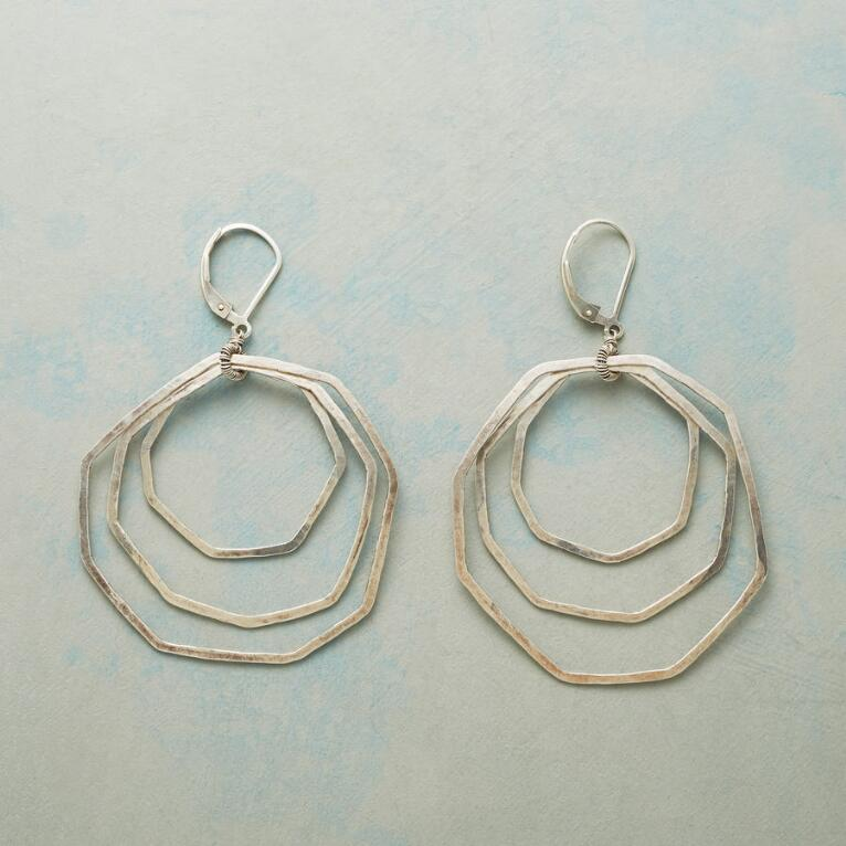 STERLING OCTAGON EARRINGS