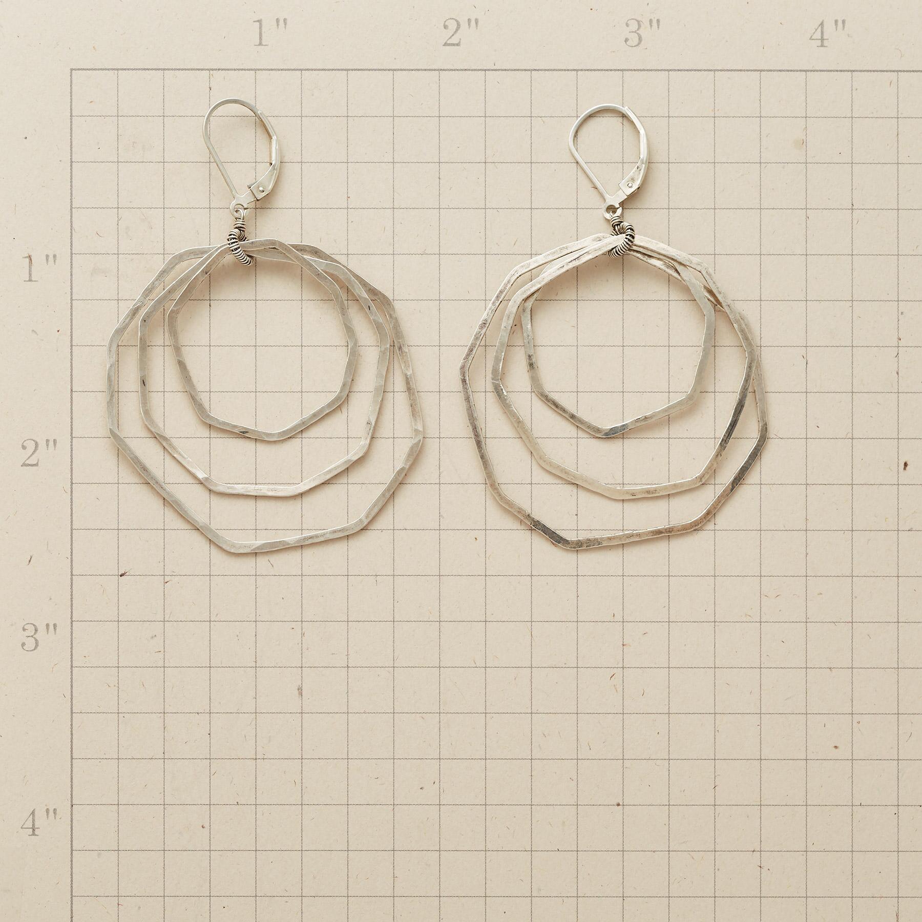 STERLING OCTAGON EARRINGS: View 2