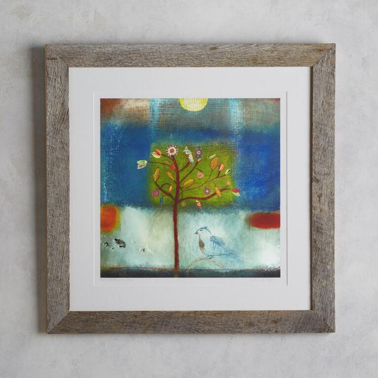 BIRD GREETS YOUNG TREE PRINT