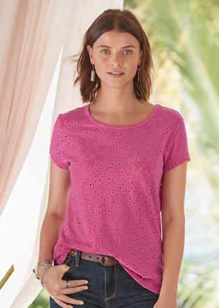ALL ABOUT EYELET TEE