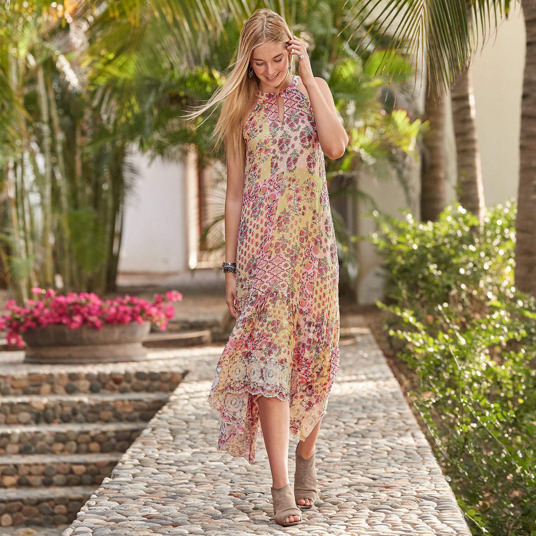ADARA HALTER DRESS: View 1