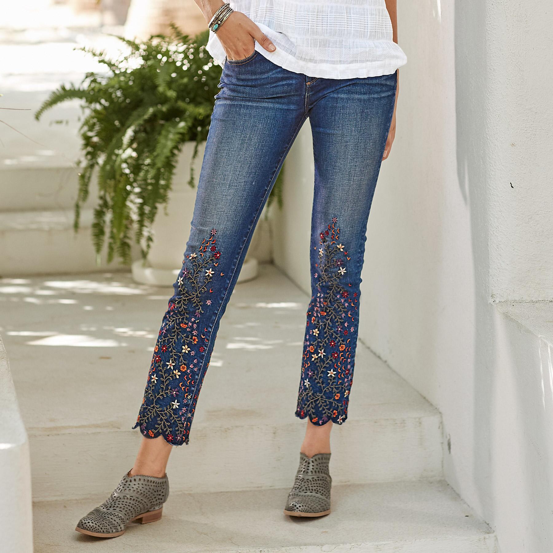 Colette fern flora jeans view 1