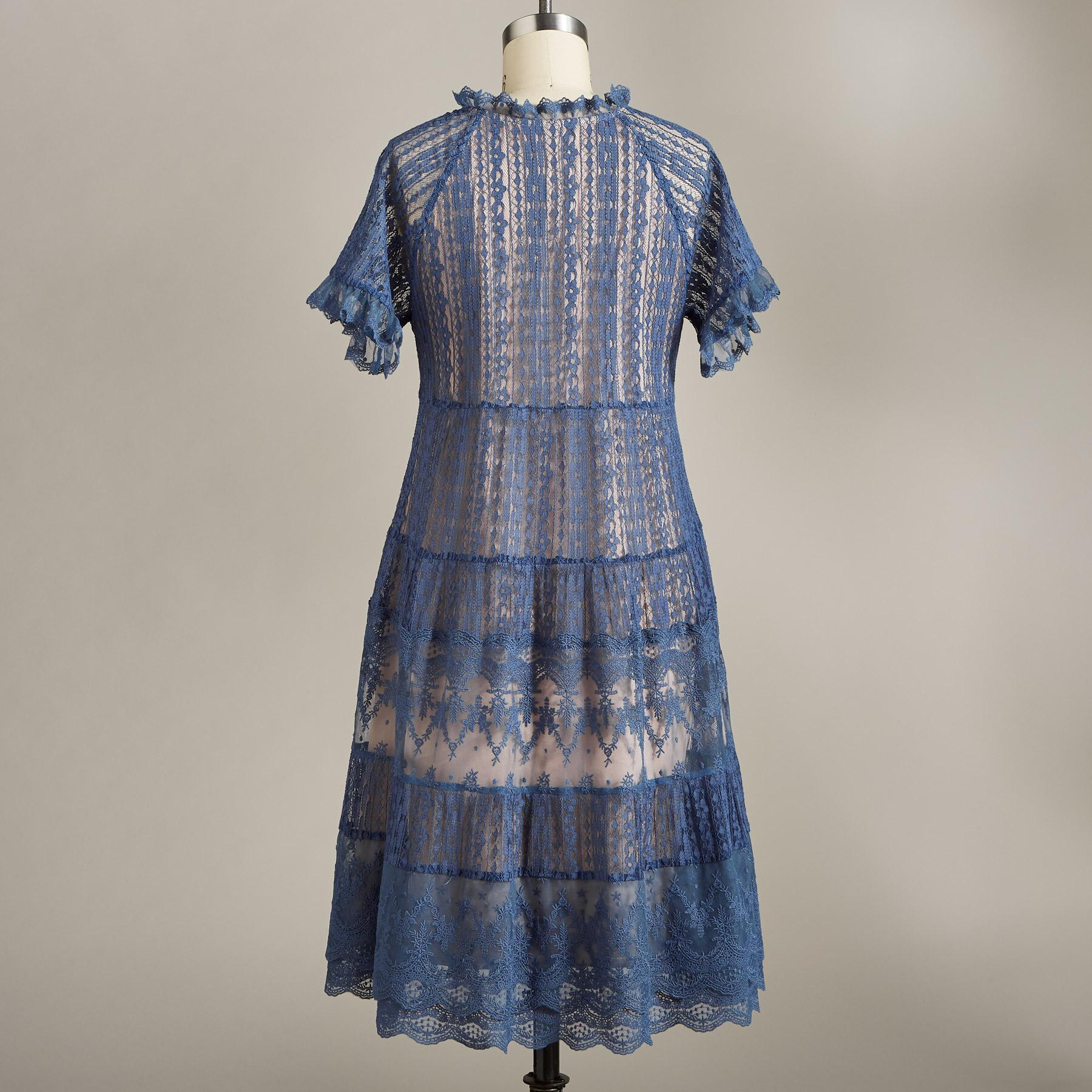 SWEEP OF LACE DRESS: View 2
