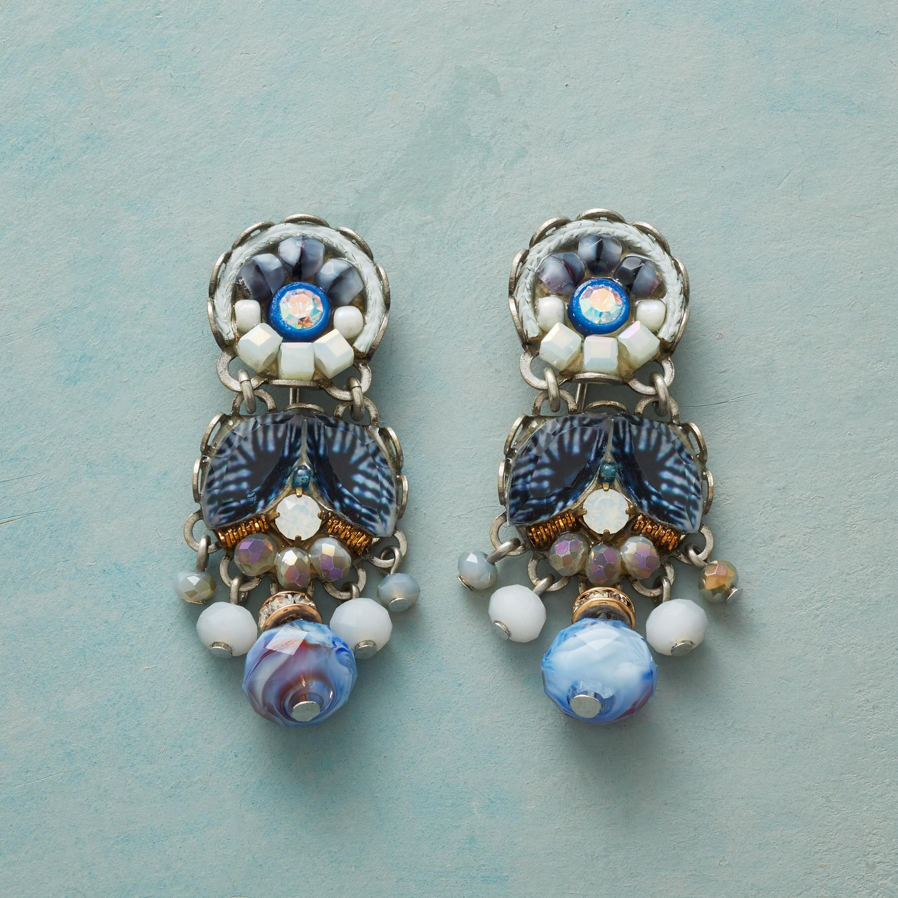 CHINA BLUE EARRINGS: View 1