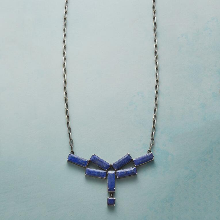 TILEWORK LAPIS NECKLACE
