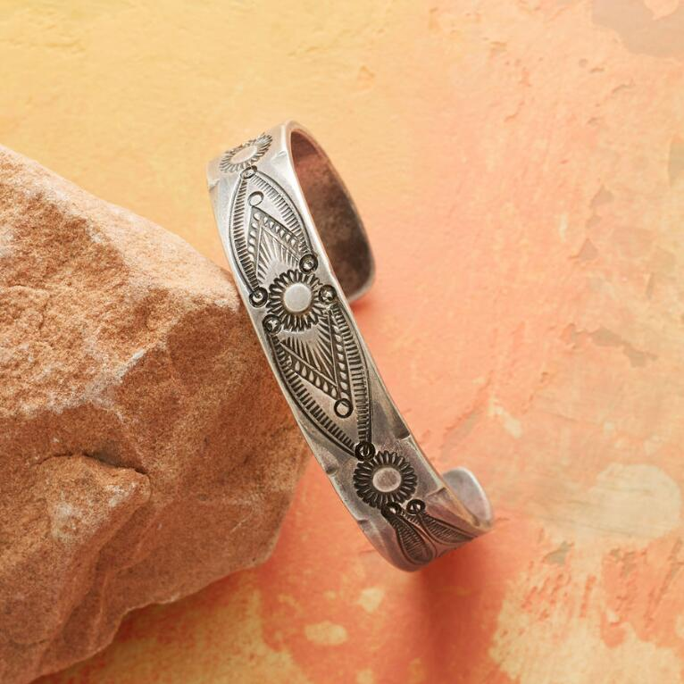 1920S STAMPED COIN SILVER CUFF