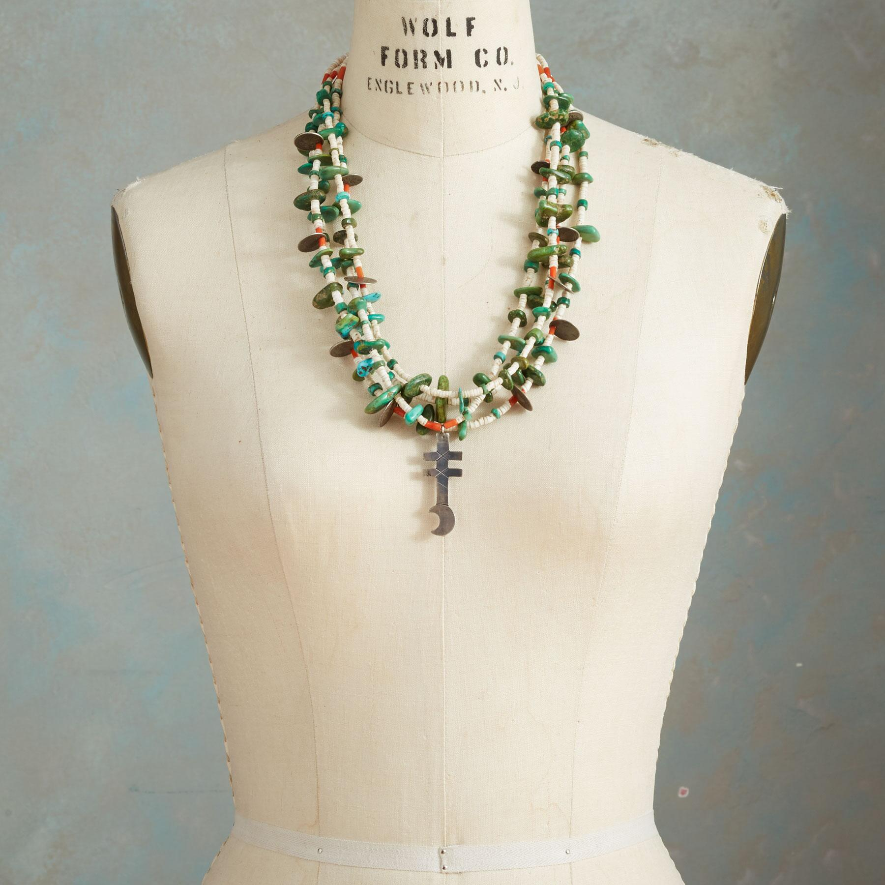 1920S FOUR-STRAND SANTO DOMINGO NECKLACE: View 3