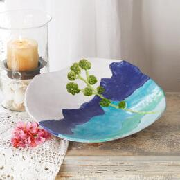 SUNDANCE CERAMICS BIG BLUE LANDSCAPE BOWL
