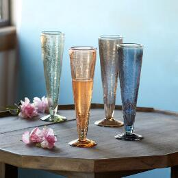 CHANTAL CHAMPAGNE FLUTES, SET OF 4
