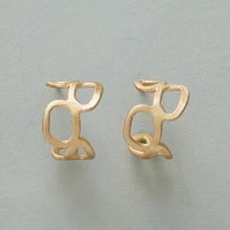 GOLD MEANDER EARRINGS