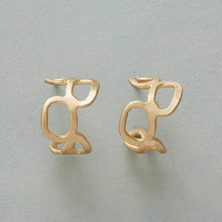 GOLD MEANDER EARRINGS